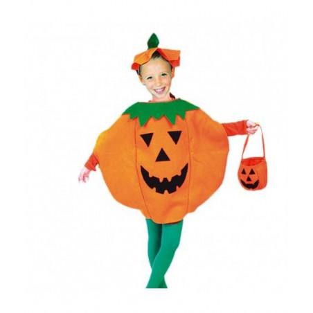 Disfraz Halloween calabaza para niños 3-7 años