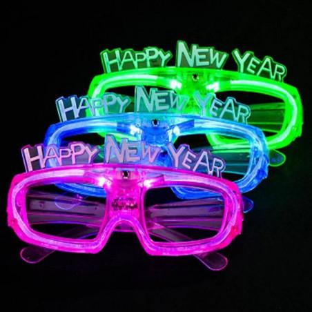 Gafas luminosas feliz año nuevo