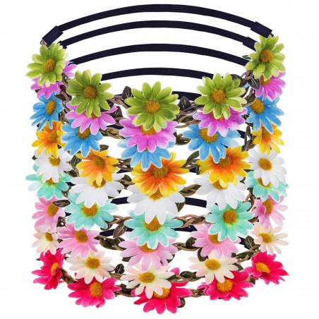 Diademas flores hippies