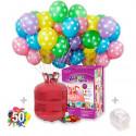 helio desechables 50 globos