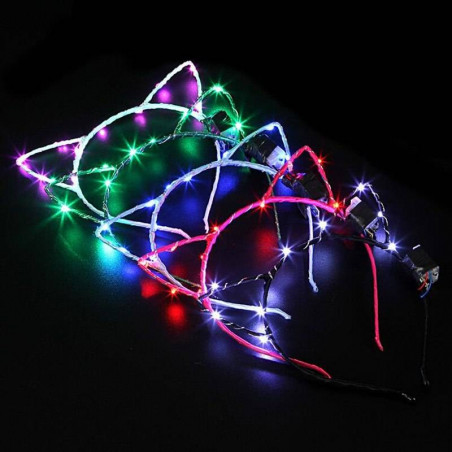 Diademas luminosas de gato LED
