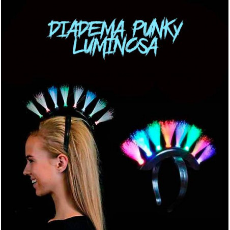 Diadema Luminosa Cresta Punky