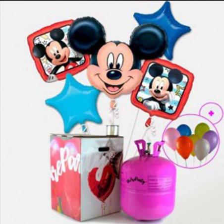 lote de globos de Mickey + bombona helio