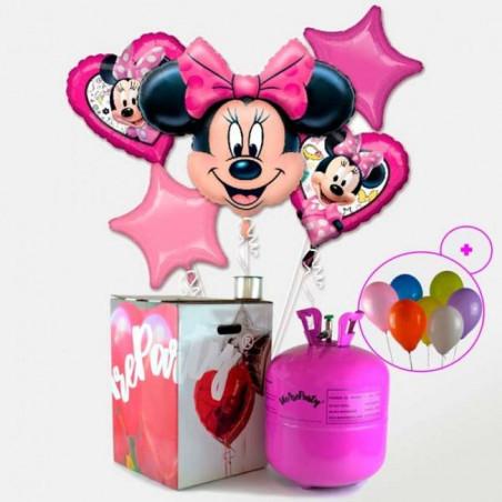 lote de globos de Minnie + bombona helio