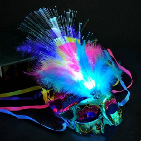 Máscaras venecianas con luz LED
