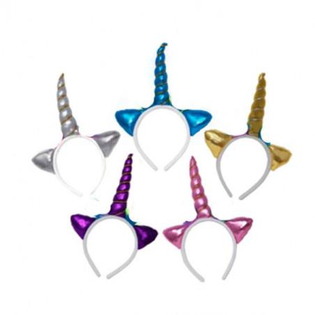 Diadema con cuerno unicornio