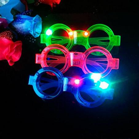 Gafas luminosas led redondas