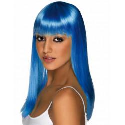 peluca lisa Azul neon