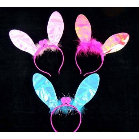Diadema luminosa orejitas conejo