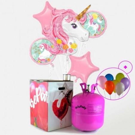 lote de globos fiesta unicornio