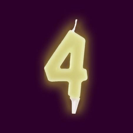 Vela fluorescente numero 4