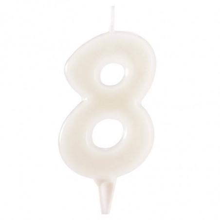 Vela fluorescente numero 8