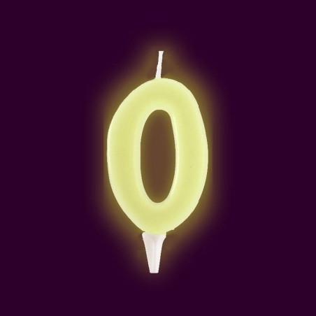 Vela fluorescente numero 0