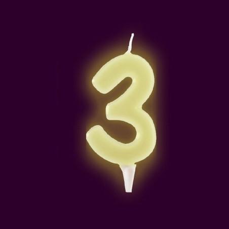 Vela fluorescente numero 3