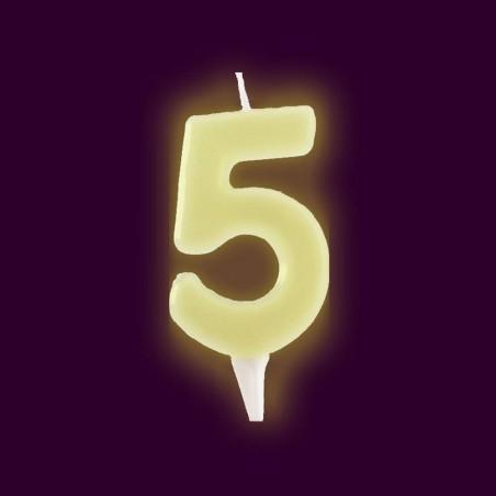 Vela fluorescente numero 5