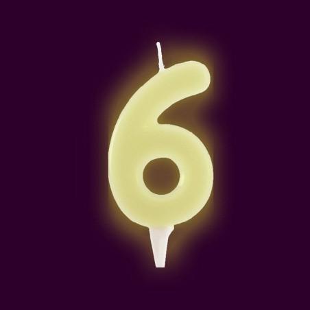Vela fluorescente numero 6