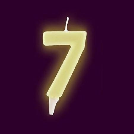 Vela fluorescente numero 7