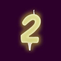 Vela fluorescente numero 2