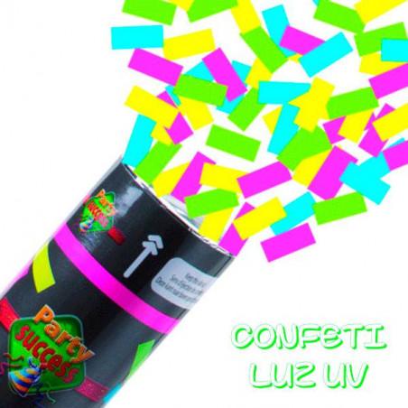 Cañones confeti brillan luz UV