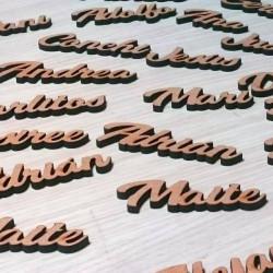 Nombres madera sitios boda
