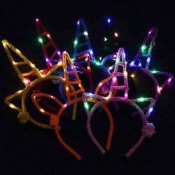 Diademas luminosas unicornio LED