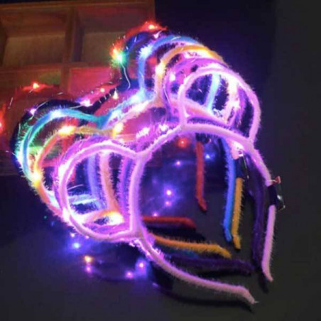 Diademas orejas de ratón LED