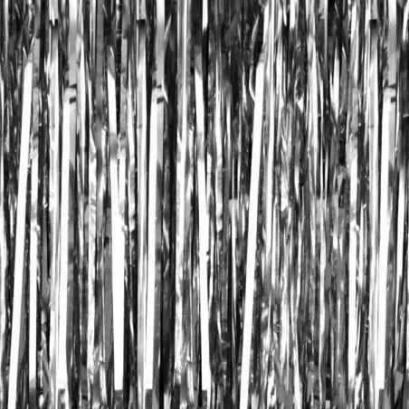 Fondo photocall cortina Foil plateado