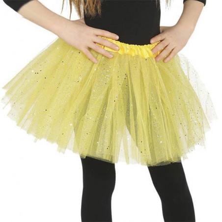 Falda tutu Amarillo purpurina 30 cm