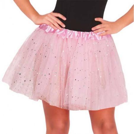Falda tutu Rosa purpurina 30 cm