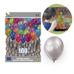 globos plateados 25cm