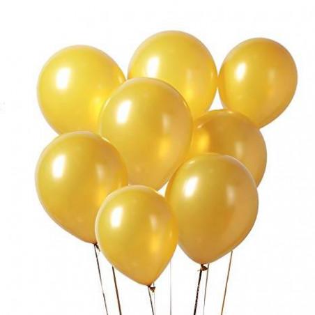 Globos metalizados dorados