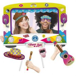 Marco photocall fiesta Hippie con accesorios