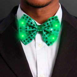 Corbata luminosa lentejuelas