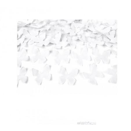 cañón confeti mariposas papel blancas