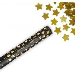 Cañon confeti estrellas doradas