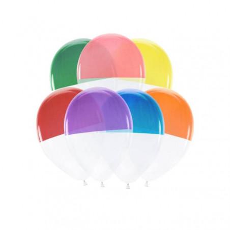 7 Globos bicolores multicolor