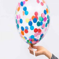 globos transparentes confeti redondo