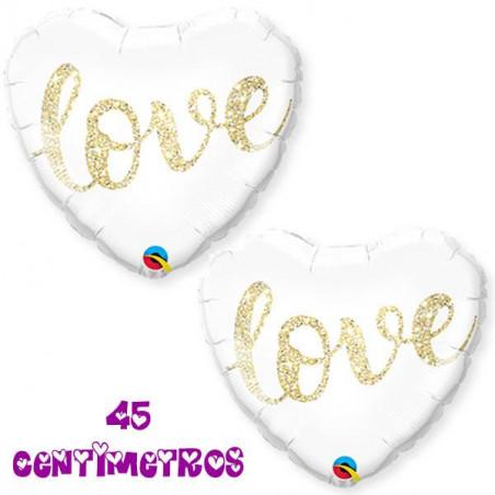Globo corazón Love 45 cm