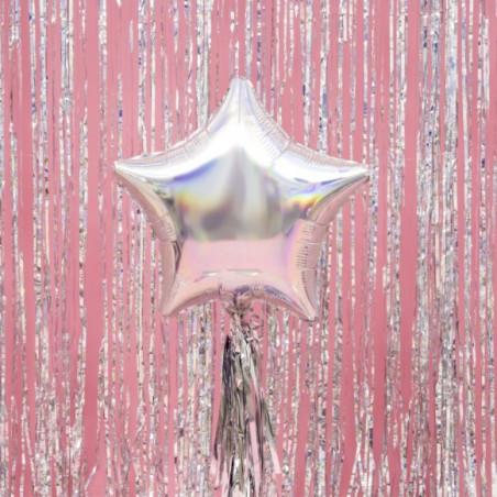Globo foil estrella Glitter iridescente 48cm