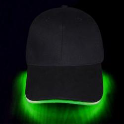 Gorra luminosa hilo neon