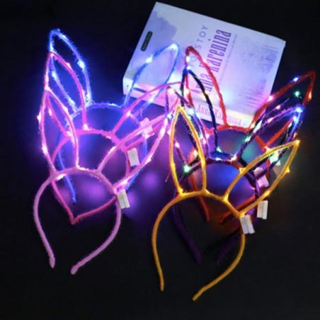 Diadema orejas de conejo luminosa