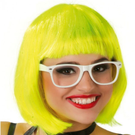 peluca neon amarilla bob