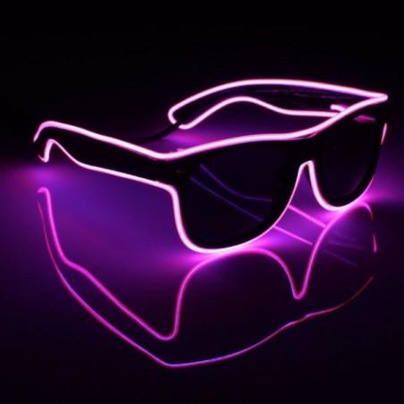 Gafas luminosas hilo neon