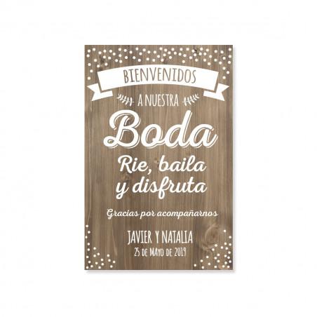 CARTELES DE BIENVENIDA BODA