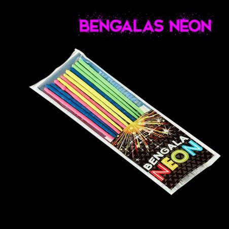 12 Bengalas fluorescente neon