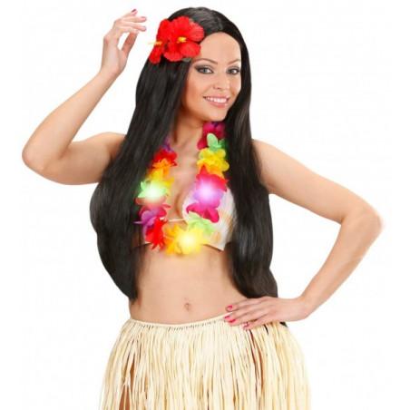 Collar hawaiano luz LED