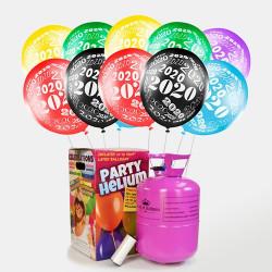50 globos fin de año 2020+ botella de helio