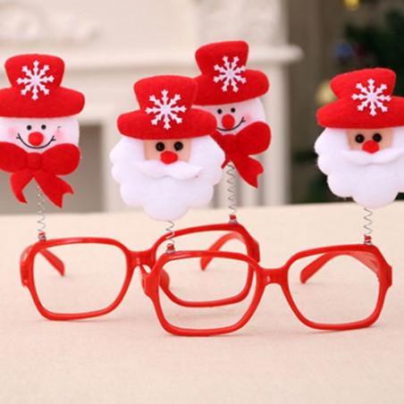 Gafas Navideñas Muñeco Nieve 3D