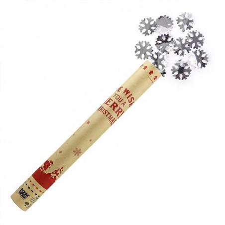 cañón confeti copos navidad