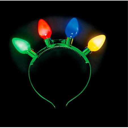 Diadema luces arbol de navidad luminosa